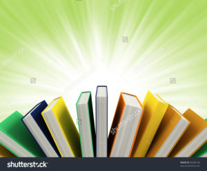 stock-photo-colored-books-isolated-on-green-58350136